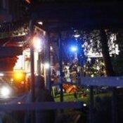 Explosion och brand i Göteborg