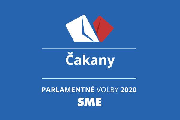 Výsledky volieb 2020 v obci Čakany