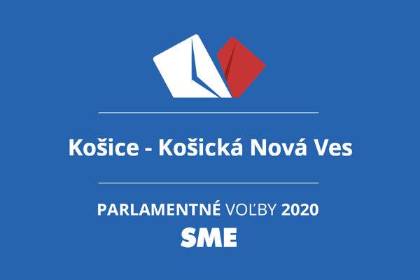 Výsledky volieb 2020 v obci Košice - Košická Nová Ves