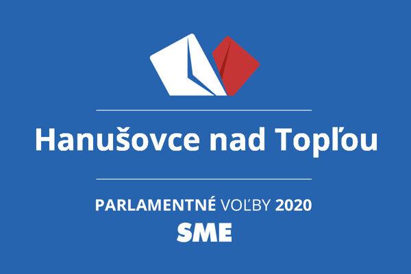 Výsledky volieb 2020 v obci Hanušovce nad Topľou