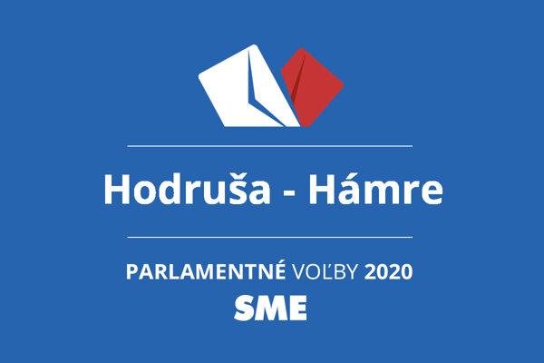 Výsledky volieb 2020 v obci Hodruša - Hámre