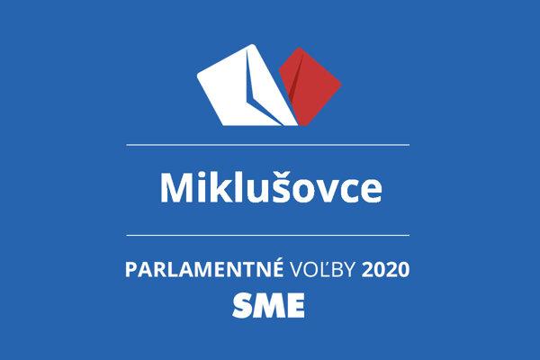 Výsledky volieb 2020 v obci Miklušovce