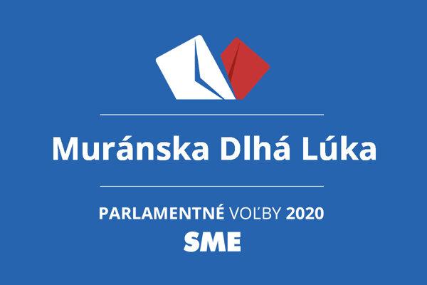 Výsledky volieb 2020 v obci Muránska Dlhá Lúka