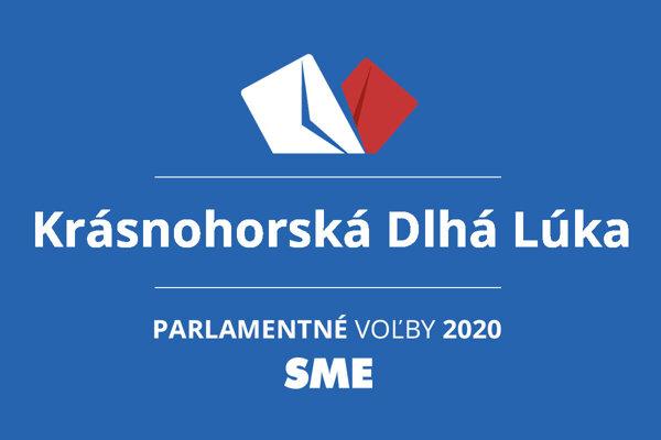 Výsledky volieb 2020 v obci Krásnohorská Dlhá Lúka