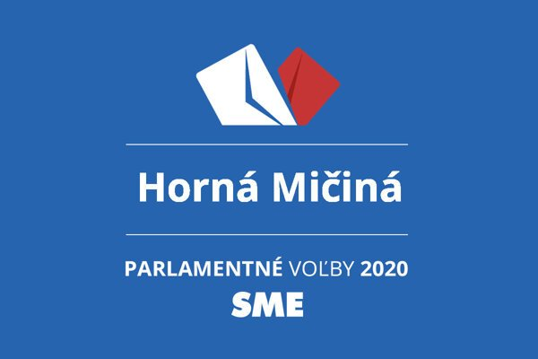 Výsledky volieb 2020 v obci Horná Mičiná