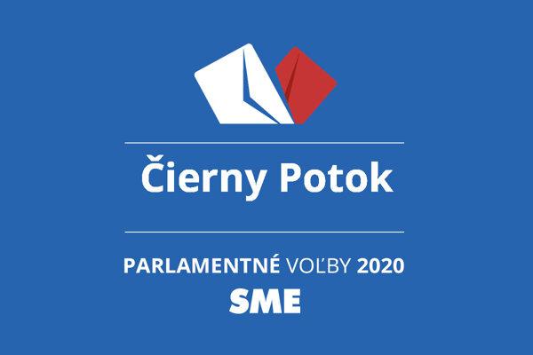 Výsledky volieb 2020 v obci Čierny Potok