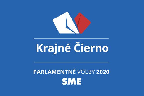 Výsledky volieb 2020 v obci Krajné Čierno