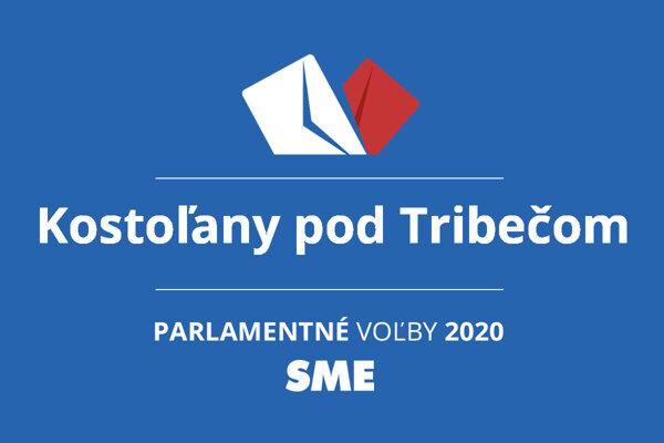 Výsledky volieb 2020 v obci Kostoľany pod Tribečom
