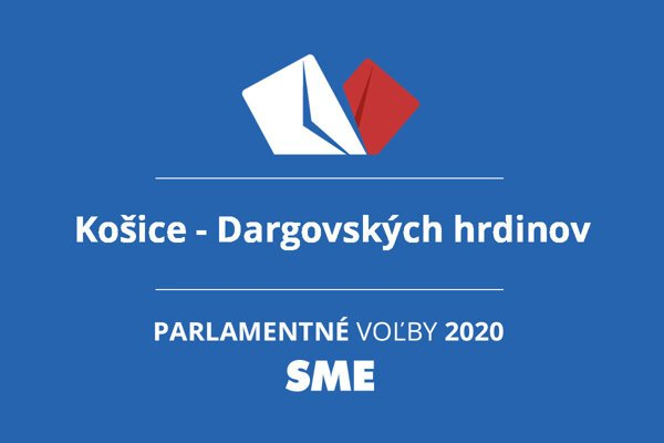 Výsledky volieb 2020 v obci Košice - Dargovských hrdinov
