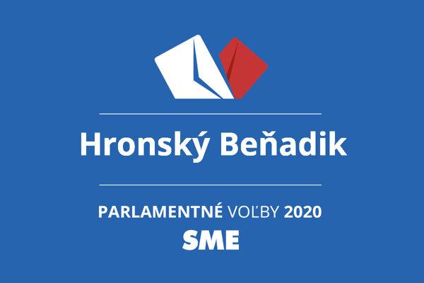 Výsledky volieb 2020 v obci Hronský Beňadik