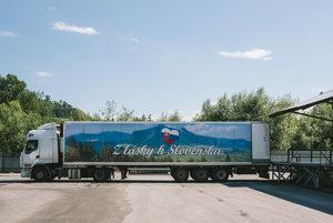 Kamión v Nealko Oravan