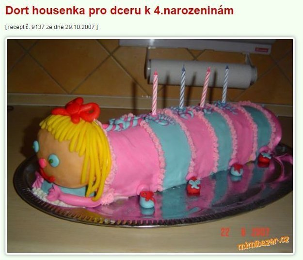 centipede torta Mimibazar.cz