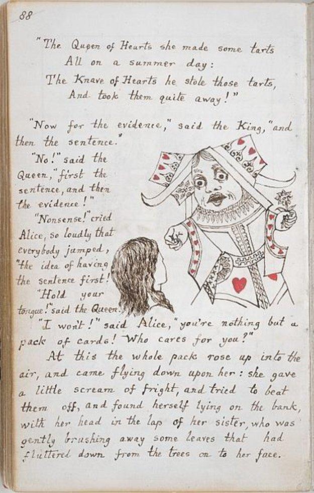 Pôvodný rukopis s kresbami autora