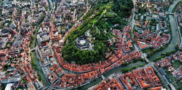 Ľubľanský hrad zhora