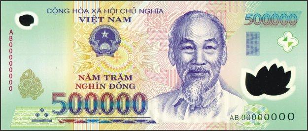 Pol milióna dongov