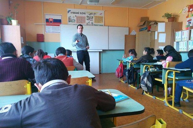 Alexander Jakubčo vo svojej triede