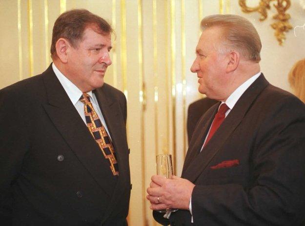 Prezident SR Michal Kováč s premiérom Vladimírom Mečiarom.