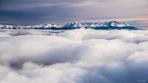Inverzia z Chopku, pohľad na Vysoké Tatry