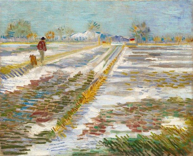 Zasnežená krajina, Vincent van Gogh, 1888