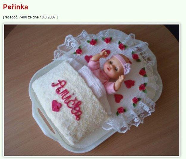 perinka torta Mimibazar.cz