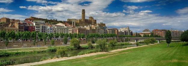 Mesto Lleida na západe Katalánska