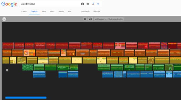 screenshot z Google