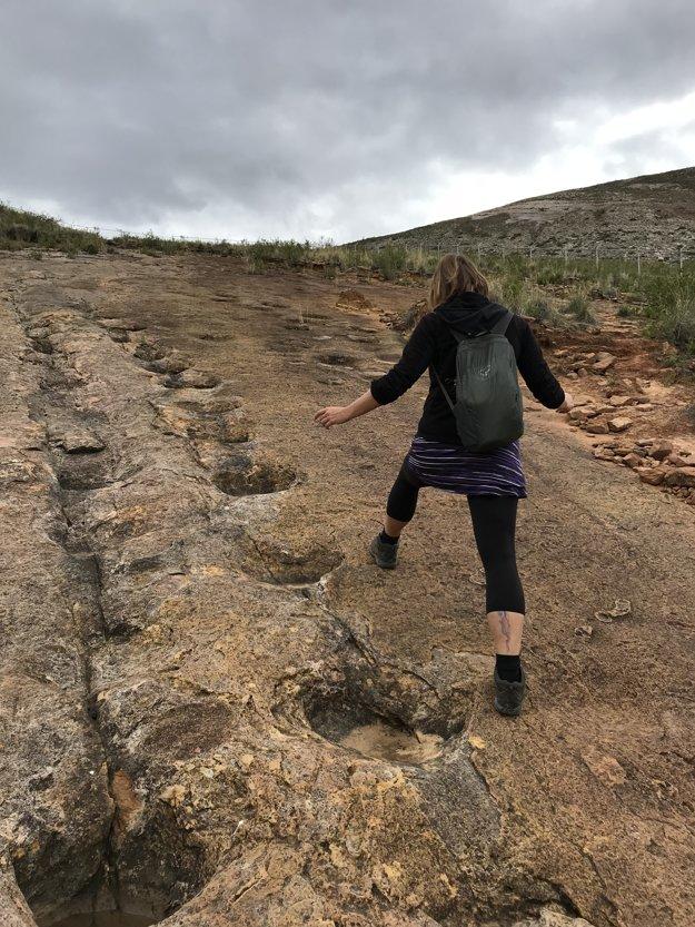 Jediné miesto, na svete kde sa môžete dotknúť 65 miliónov rokov starých stôp po dinosauroch