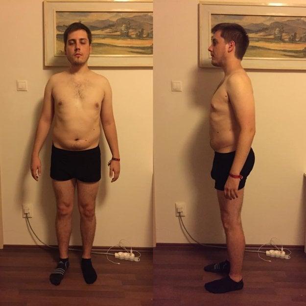 Fotografia po prvom tréningu, pred zmenou stravy a pred prvými ozajstnými cvičeniami