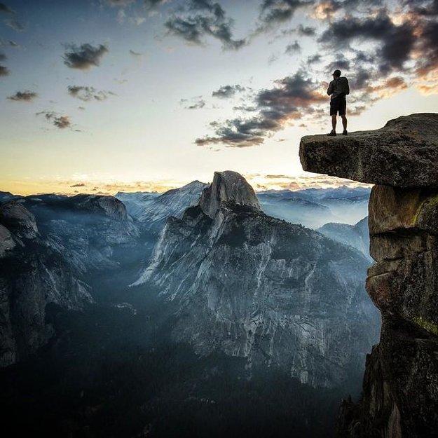 No čo, postavil by si sa tam? Výhľad v ďalšom americkom národnom parku Yosemite.