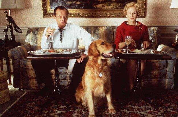 Jack Nicholson a Glen Close ako prezidentský pár.