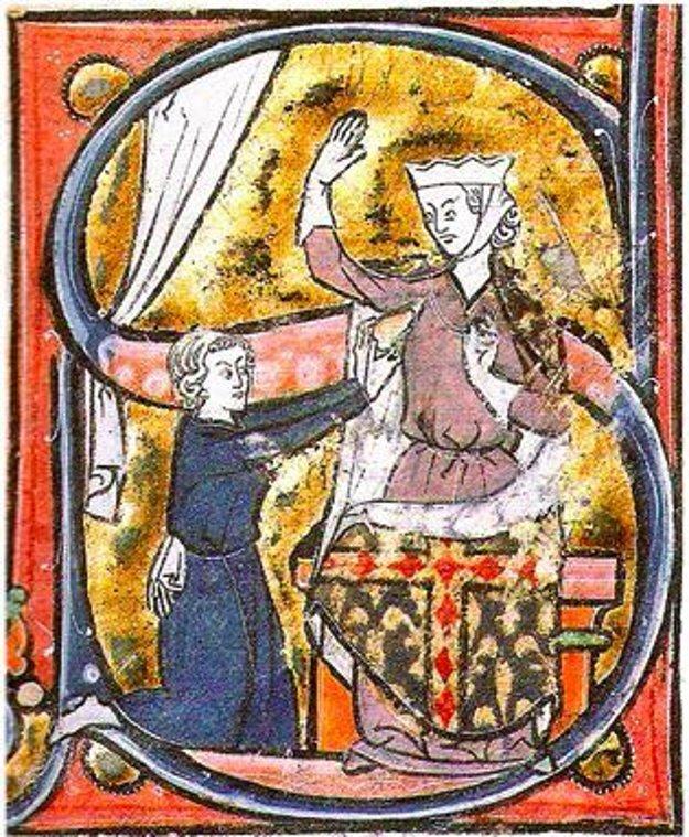 Prvé známe použitie srdca pre zobrazenie romantickej lásky z roku 1250