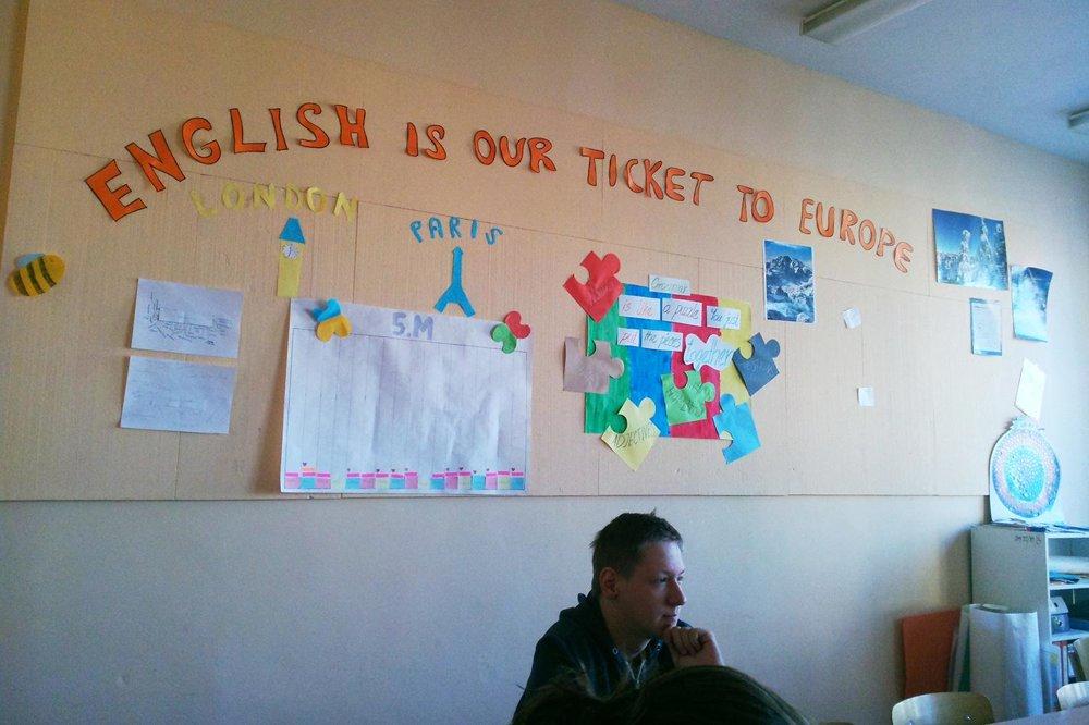Na hodine angličtine v Michalovej triede