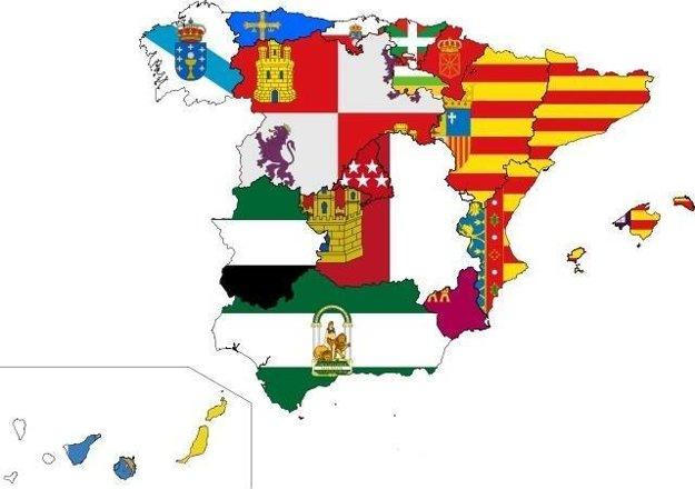 Autonómne spoločenstvá s ich vlajkami
