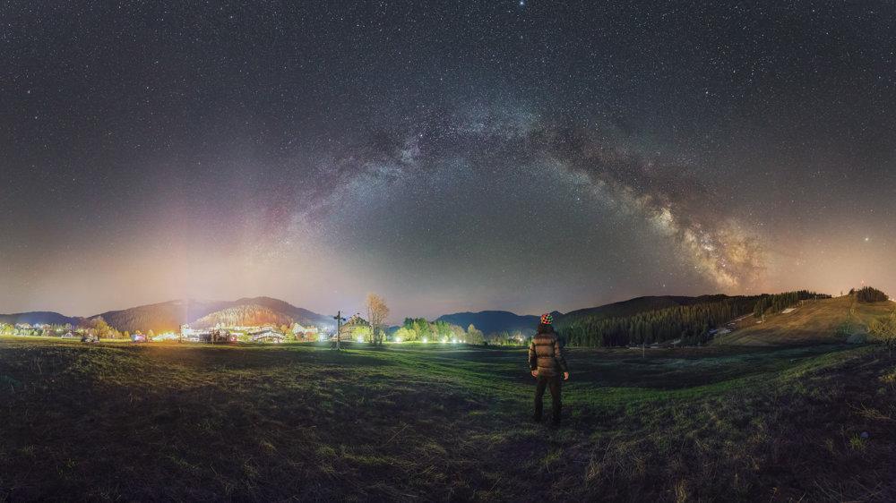 Nočná obloha na Donovaloch.