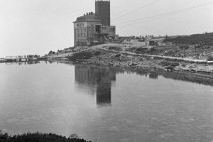 1965 - Dolná stanica lanovky na Lomnický štít