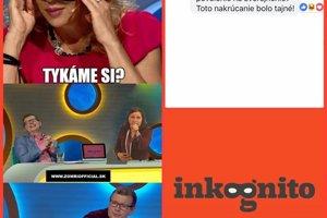 Facebooková stránka relácie TV JOJ Inkognito okomentovala status stránky Zomri, ktorá zverejnila vtip so Zdenou Studenkovou a jej otázkou na starostku.