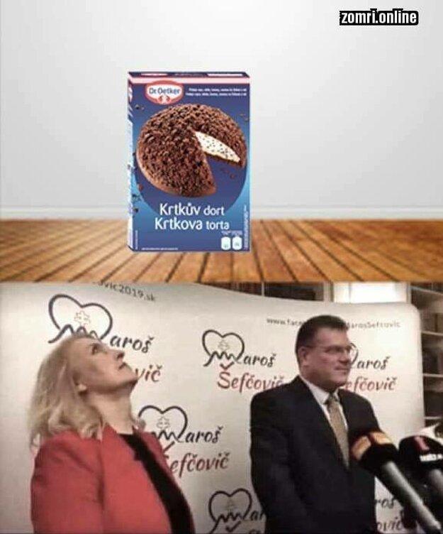 Krtkova torta memes: Mňam dopíči