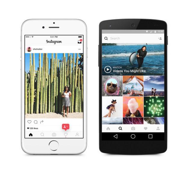 Instagram - nový dizajna appky