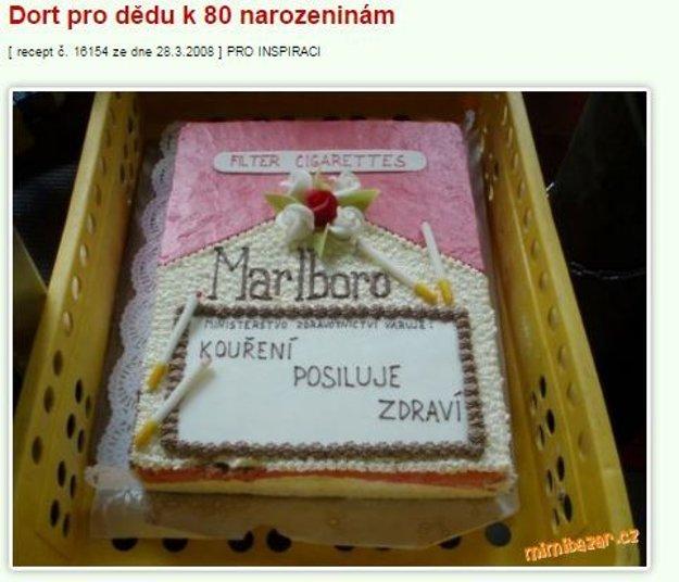 torta cigarey Mimibazar.cz