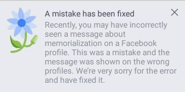facebook sorry