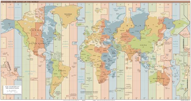 Mapa časových zón