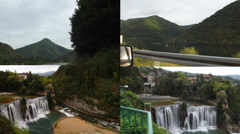 Vodopády v mestečku Jajce