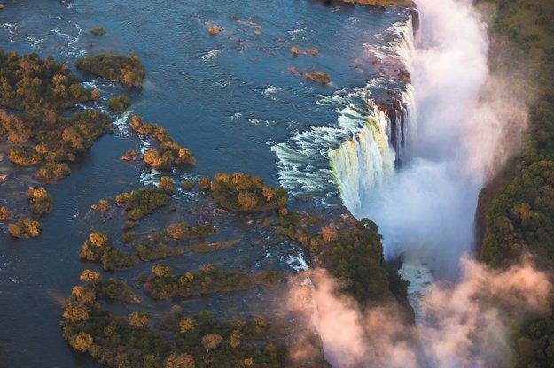 Viktóriine vodopády sú veľkým zážitkom.