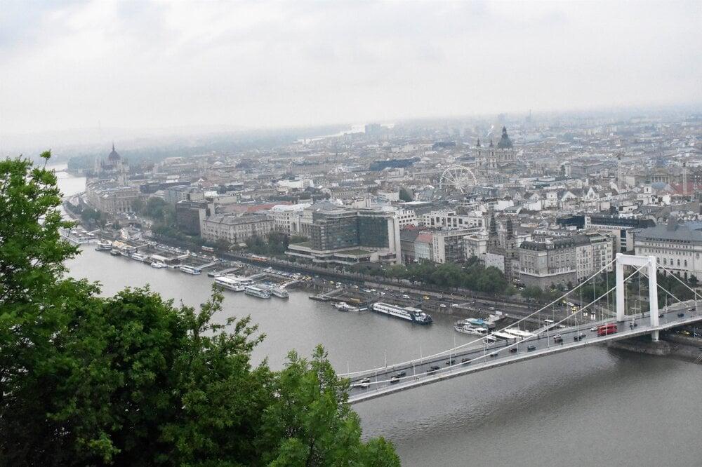 Budapešť z Gellért Hill