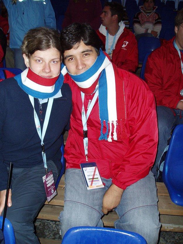 Marianna s kolegom z Paraguaja