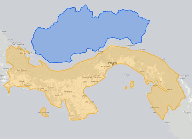 Panama v porovnaní so Slovenskom.