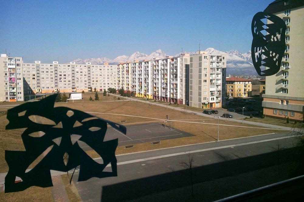 Výhľad z triedy v Poprade