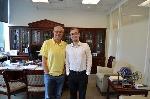 Marek s profesorom Nicolaouom