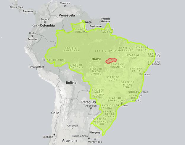 Slovensko v porovnaní s Brazíliou