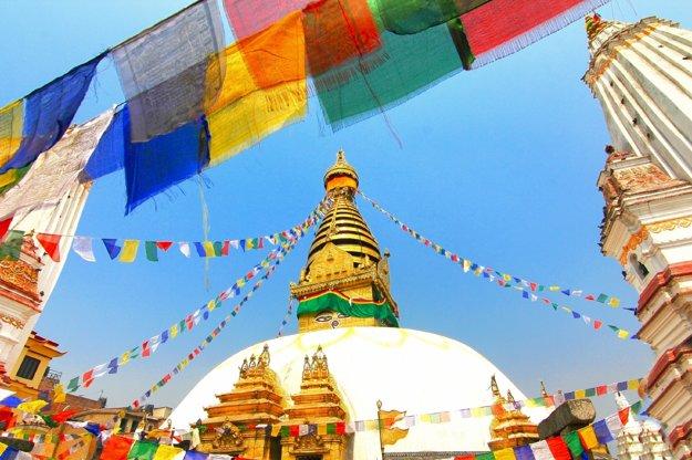 Pohľad na chrám Swayambhunath.